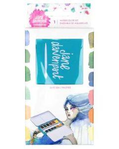 Glitz-Sea Watercolors Set  - ArtEssentials - Jane Davenport - Spellbinders