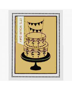 Tiered Cake Glimmer Hot Foil Plate - Spellbinders - Clearance