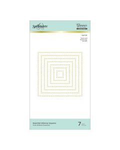 Squares Essential Glimmer Hot Foil Plates - Modern Essentials - Spellbinders