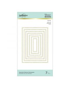 Rectangles Essential Glimmer Hot Foil Plates - Modern Essentials - Spellbinders