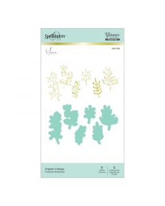 Organic Foliage Glimmer Hot Foil Plates & Die Set - the Foiled Basics collection - Yana Smakula - Spellbinders