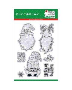 """Gnome for Christmas 4"""" x 6"""" Stamps - PhotoPlay*"""