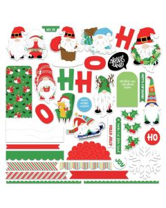Gnome for Christmas Card Kit Stickers - PhotoPlay