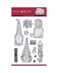 """Gnome for July 4th 4"""" x 6"""" Stamps - PhotoPlay*"""