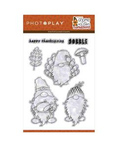 """Gnome for Thanksgiving 4"""" x 6"""" Stamps - PhotoPlay*"""