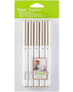 Cricut 10 Pack Gold Pen Set