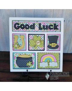 Foundations Decor White Good Luck Shadow Box