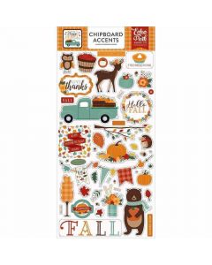 Happy Fall Chipboard Accents - Echo Park