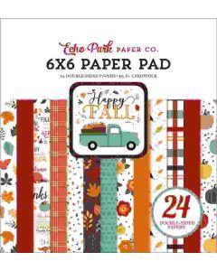 "Happy Fall 6"" x 6"" Paper Pad - Echo Park"