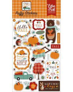 Happy Fall Puffy Stickers - Echo Park
