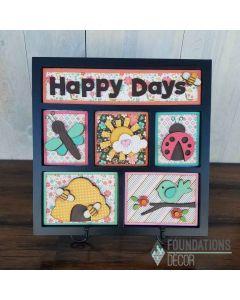 Foundations Decor Happy Days Shadow Box