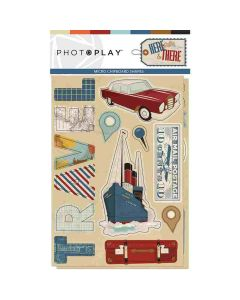 PhotoPlay Here & There Chipboard shapes
