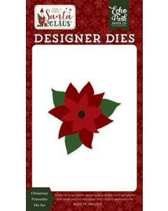 Christmas Poinsettia Die Set - Here Comes Santa Claus - Echo Park