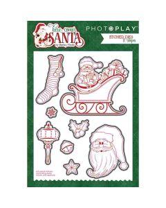 PhotoPlay Here Comes Santa Die Cut Set