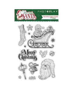PhotoPlay Here Comes Santa Stamp Set