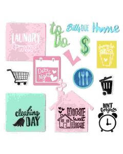 Sizzix household planner die and stamp set