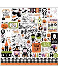 I Love Halloween Element Stickers - Echo Park