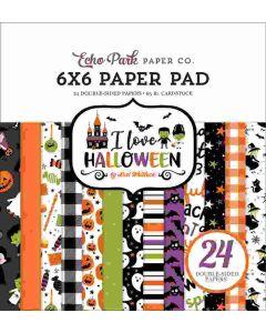 "I Love Halloween 6"" x 6"" Paper Pad - Echo Park"