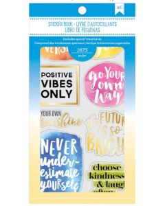 Inspirational Life quote stickers book