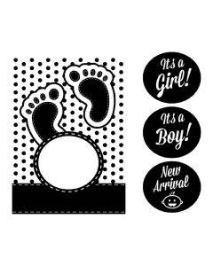 Baby Interchangeable 5x7 Embossing Folder - CGull