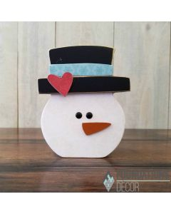 January Home O Snowman in hat Painted