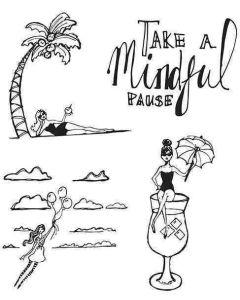 Mindful Pause Clear Stamps - Artomology - Jane Davenport - Spellbinders