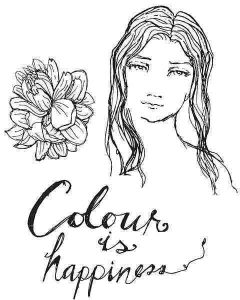 Colour is Happiness Clear Stamps - Artomology - Jane Davenport - Spellbinders