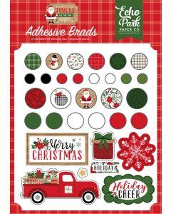 Jingle All The Way Adhesive Brads - Echo Park