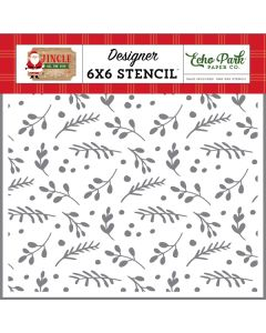 Boughs of Holly Stencil - Jingle All The Way - Echo Park