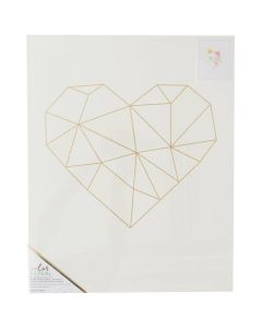 16 x 20 Geo Heart watercolor
