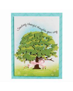 Spellbinders Oak tree layered dies