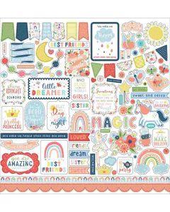 Little Dreamer Girl Element Stickers - Echo Park*