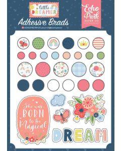 Little Dreamer Girl Adhesive Brads - Echo Park*