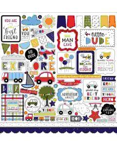Little Dreamer Boy Element Stickers - Echo Park*