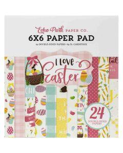 "I Love Easter 6"" x 6"" Paper Pad - Echo Park"