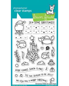 Christmas Fishes Clear Stamps - Lawn Fawn