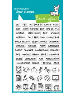 Plan On It: School Clear Stamps - Lawn Fawn