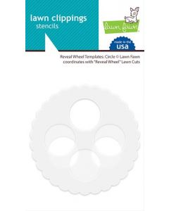 Templates: Circle Lawn Clippings Stencils - Reveal Wheel - Lawn Fawn