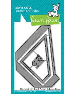 Diagonal Gift Card Pocket Lawn Cuts Dies - Lawn Fawn