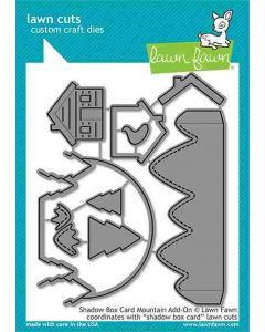 Shadow Box Card Mountain Add-On Lawn Cuts Dies - Lawn Fawn