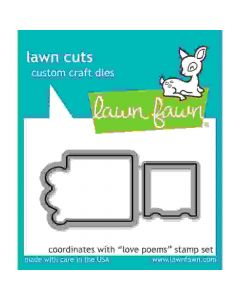 Love Poems Lawn Cuts Dies - Lawn Fawn *
