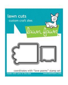 Love Poems Lawn Cuts Dies - Lawn Fawn *