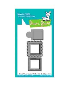 Reveal Wheel Square Window Add-On Lawn Cuts Dies - Lawn Fawn *