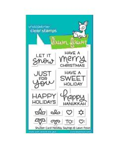 Shutter Card Holiday Sayings Stamps - Lawn Fawn