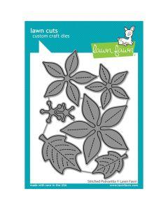 Stitched Poinsettia Lawn Cuts Dies - Lawn Fawn