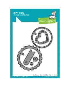 Scalloped Circle Gift Tag Lawn Cuts Dies - Lawn Fawn