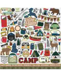 Let's Go Camping Element Stickers - Echo Park