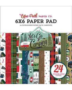 "Let's Go Camping 6"" x 6"" Paper Pad - Echo Park"