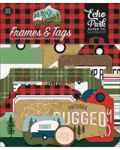 Let's Go Camping Frames & Tags - Echo Park