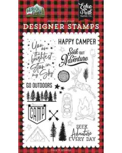 Seek Out Adventure Stamps - Let's Go Camping - Echo Park